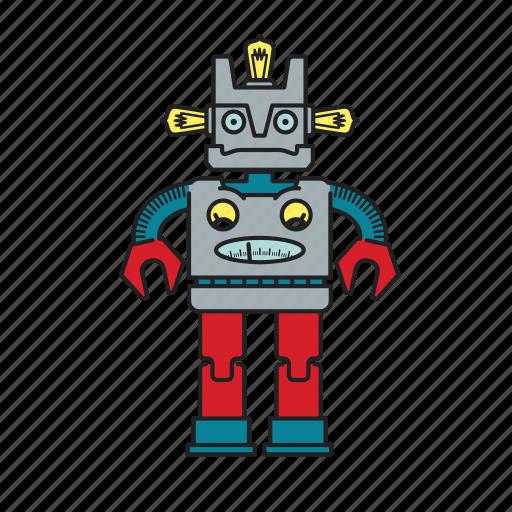 Robotic, robot, automation, machine, computer, mechanical, autonomous icon