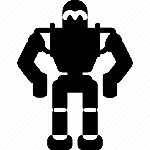 film, giant, iron, mechanical, movie, robots, solid icon