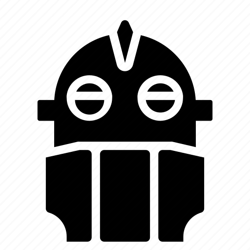 droid, giant, iron, mechanical, movie, robots, solid icon