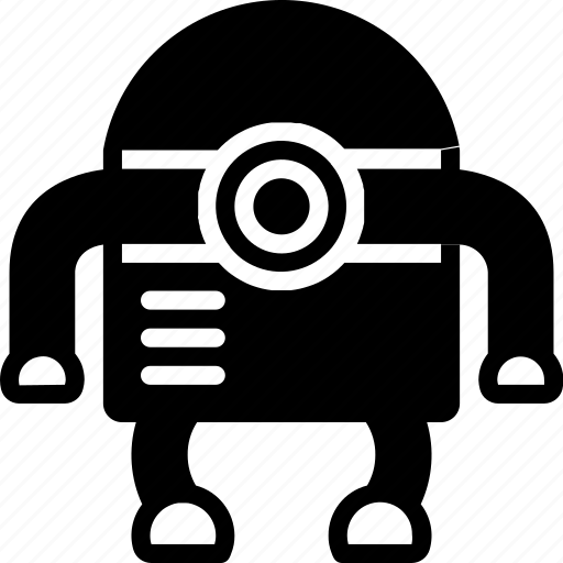 bot, droid, film, mechanical, movie, robots, solid icon