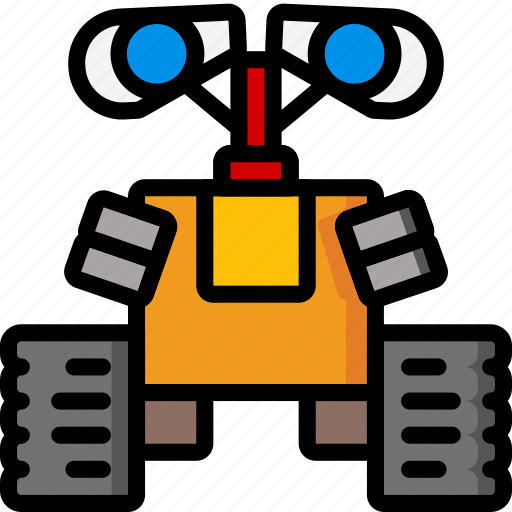 color, droid, film, movie, robots, ultra, wall icon