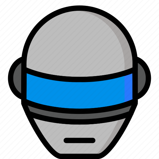 Droid, color, punk, robots, daft, mechanical, ultra icon