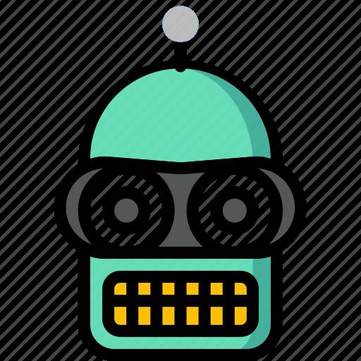 Bender, color, film, movie, robots, tv, ultra icon - Download on Iconfinder