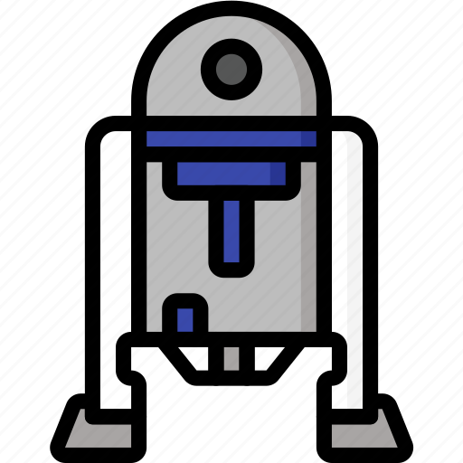 Color, droid, mechanical, movie, r2d2, robots, ultra icon - Download on Iconfinder