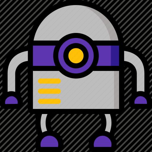 bot, color, droid, film, mechanical, movie, robots icon
