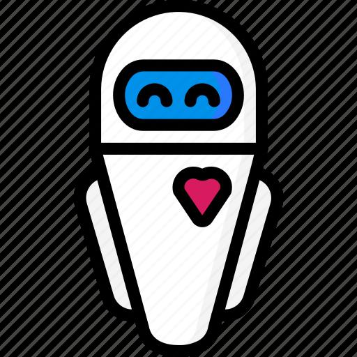 color, droid, eve, film, mechanical, movie, robots icon