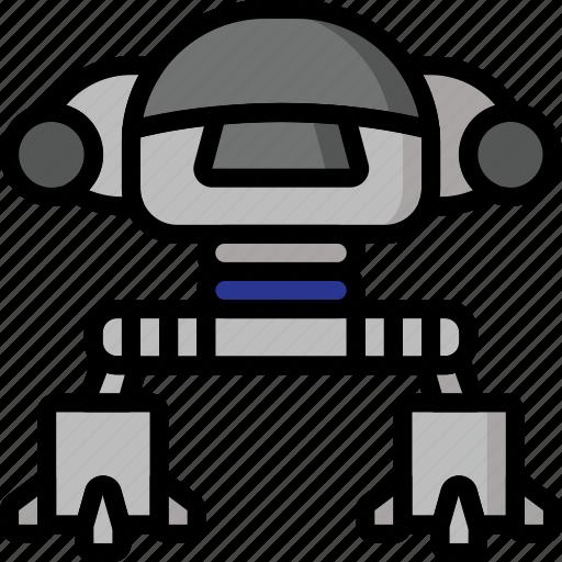 color, droid, ed, film, mechanical, movie, robots icon