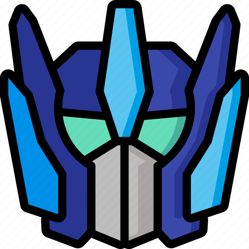 color, droid, film, mechanical, movie, optimus, robots icon