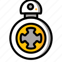 bb8, color, droid, film, mechanical, movie, robots icon