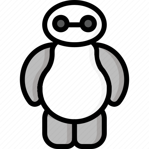 Droid, color, movie, robots, baymax, mechanical, film icon