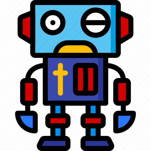 Droid, color, movie, bot, robots, mechanical, film icon
