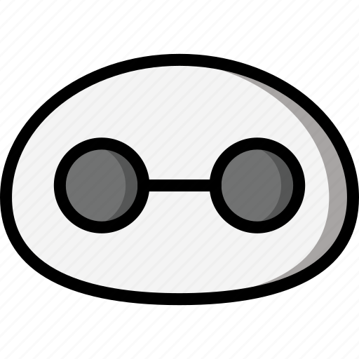 Baymax, color, film, head, mechanical, movie, robots icon - Download on Iconfinder