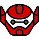 battle, baymax, color, film, head, mechanical, robots icon