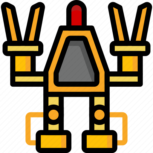 color, droid, film, lifter, mechanical, movie, robots icon