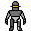 color, droid, film, klaatu, mechanical, movie, robots icon