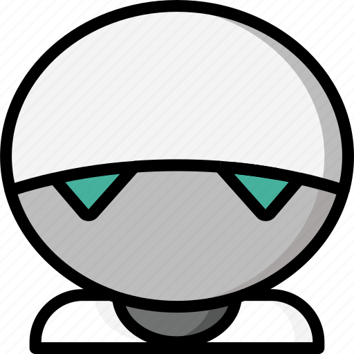 color, droid, film, marvin, mechanical, movie, robots icon