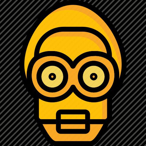 Droid, color, movie, bot, robots, mechanical, film icon