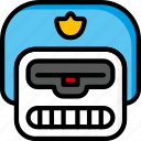 bot, droid, film, mechanical, movie, police, robots icon