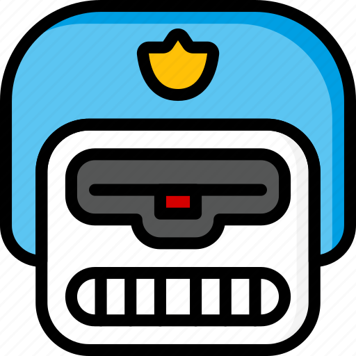 Bot, droid, film, mechanical, movie, police, robots icon - Download on Iconfinder