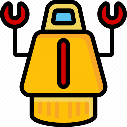 Bot, color, droid, film, mechanical, movie, robots icon - Download on Iconfinder