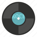 audio, disc, label, music, record, sound, vinyl icon