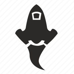 cartoon, fly, rocket, ship, space icon