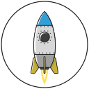 business, fly, grow up, marketing, rocket, rocket science, startup icon