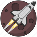 business, marketing, planet, rocket, space, spaceship, startup icon