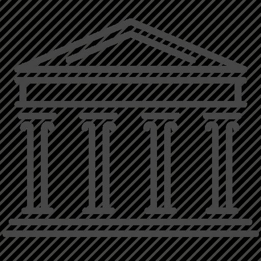 ancient, architecture, empire, parthenon, political, roman, sanctuary icon