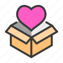gift, love, marriage, romance, valentines, wedding icon