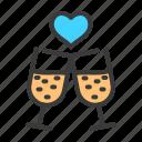 drink, heart, love, romance, romantic, valentine, wedding