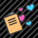 heart, invitation, love, marriage, romance, valentine, wedding