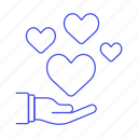 1, giving, hand, heart, keeping, love, romance, share icon