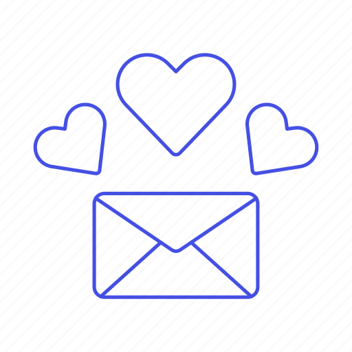 2, anniversary, envelope, heart, letter, love, romance, secret icon