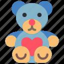 day, romance, teddy, valentines icon