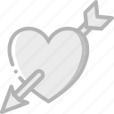 day, heart, romance, valentines icon