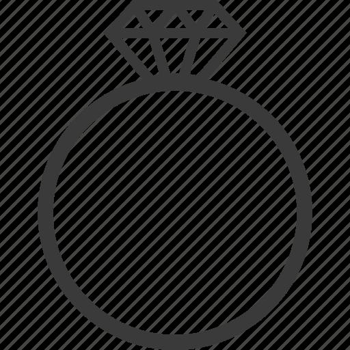 diamond, engagement, love, ring icon