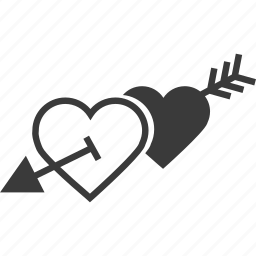 heart, hearts, love, valentine icon