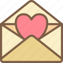 day, letter, love, romance, valentines icon