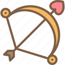 bow, day, love, romance, valentines icon