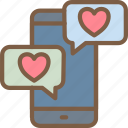 day, love, romance, text, valentines icon