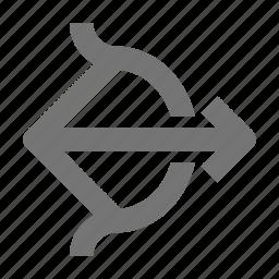arrow, bow, cupid icon