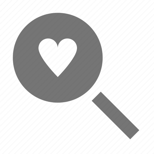 find, heart, search, view icon