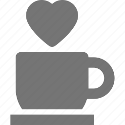 beverage, coffee, heart, mug, tea icon
