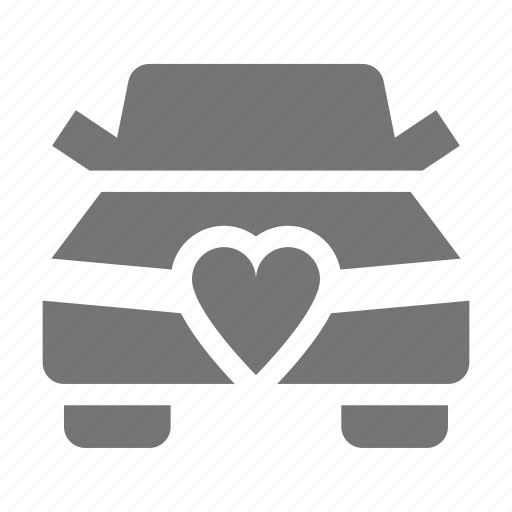 car, heart, marriage, transportation icon