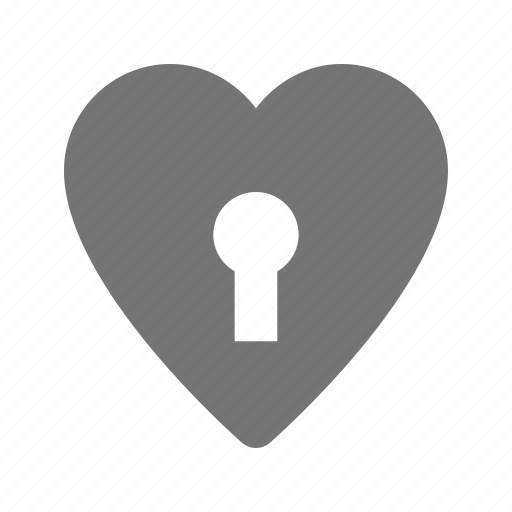 heart, lock icon