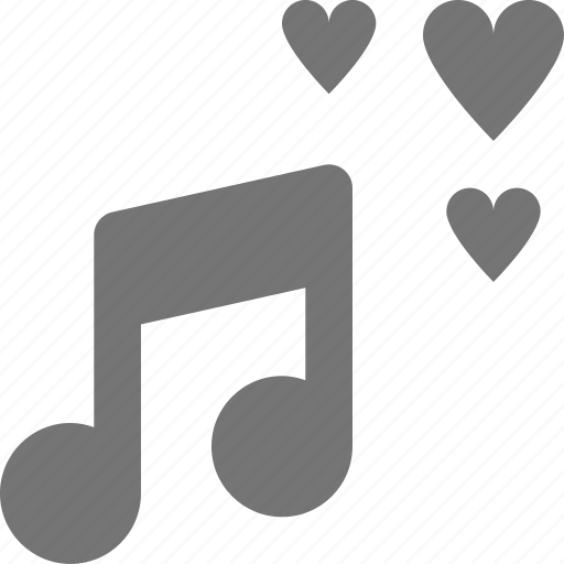 hearts, love, music icon