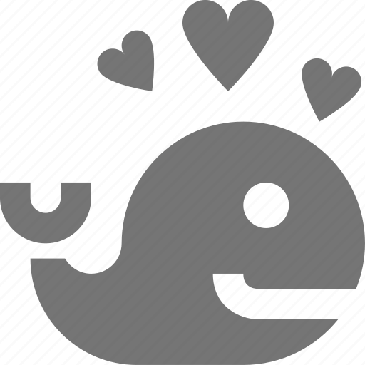 hearts, whale icon