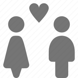 couple, heart, man, relationship, woman icon
