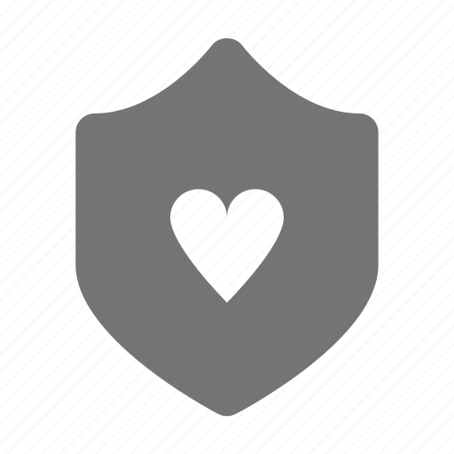 heart, security, shield icon